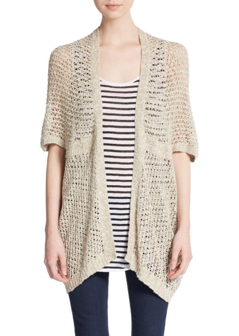 Eileen Fisher Open-Knit Cardigan