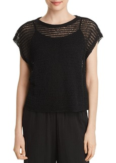 Eileen Fisher Open-Knit Cropped Top