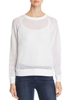 Eileen Fisher Open-Knit Raglan Sweater
