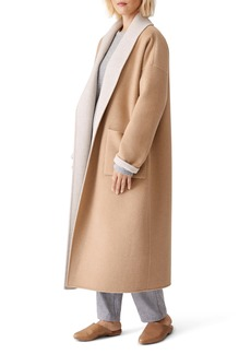 Eileen Fisher Open Shawl Collar Coat