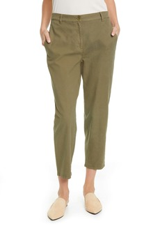 Eileen Fisher Organic Cotton & Hemp High Waist Tapered Ankle Pants