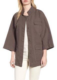 Eileen Fisher Organic Cotton & Hemp Jacket (Regular & Petite)