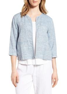 Eileen Fisher Organic Cotton & Linen Crop Jacket (Regular & Petite)