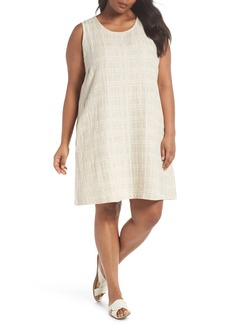 Eileen Fisher Organic Cotton & Linen Shift Dress (Plus Size)