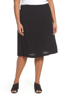 Eileen Fisher Organic Cotton A-Line Skirt (Plus Size)