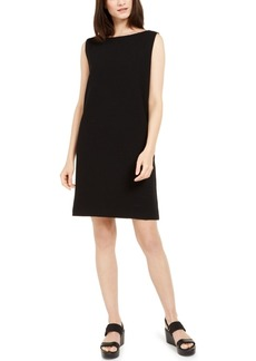 Eileen Fisher Organic Cotton Bateau-Neck Shift Dress
