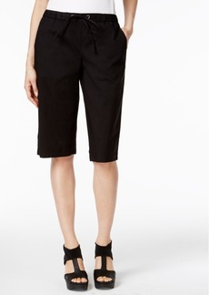 Eileen Fisher Organic Cotton-Blend Bermuda Shorts
