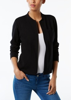 Eileen Fisher Organic Cotton-Blend Bomber Jacket