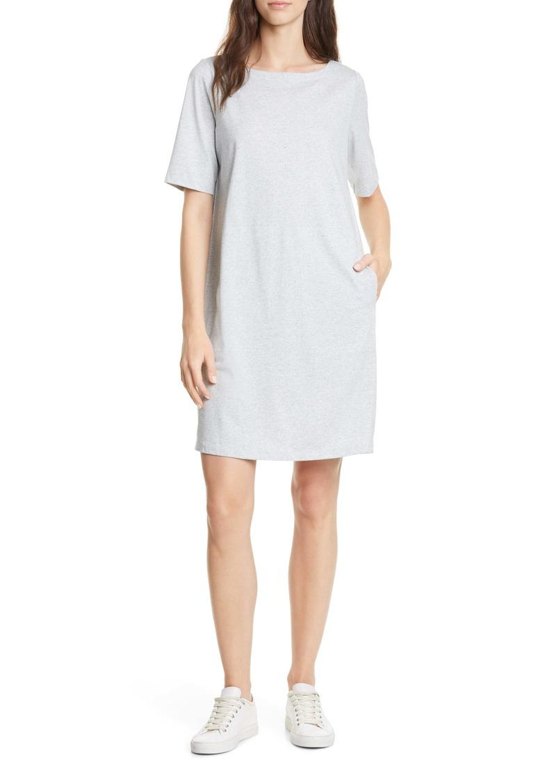 Eileen Fisher Organic Cotton Blend Shift Dress