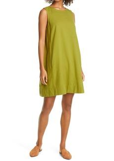 Eileen Fisher Organic Cotton Blend Sleeveless Shift Dress (Regular & Petite)