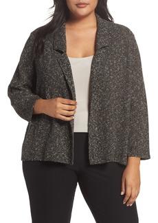 Eileen Fisher Organic Cotton Blend Sweater Jacket (Plus Size)