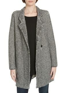 Eileen Fisher Organic Cotton Blend Tweed Coat (Regular & Petite)