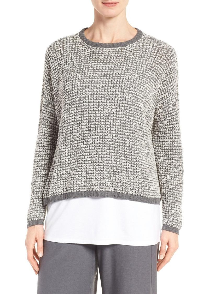 Eileen Fisher Eileen Fisher Organic Cotton Bouclé Sweater (Regular ...