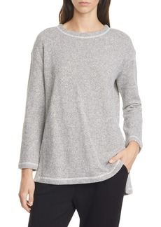 Eileen Fisher Organic Cotton Bouclé Top (Regular & Petite)