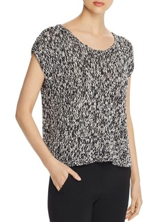 Eileen Fisher Organic Cotton Cap-Sleeve Sweater