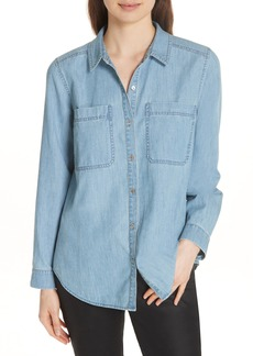 Eileen Fisher Organic Cotton Chambray Shirt (Regular & Petite)