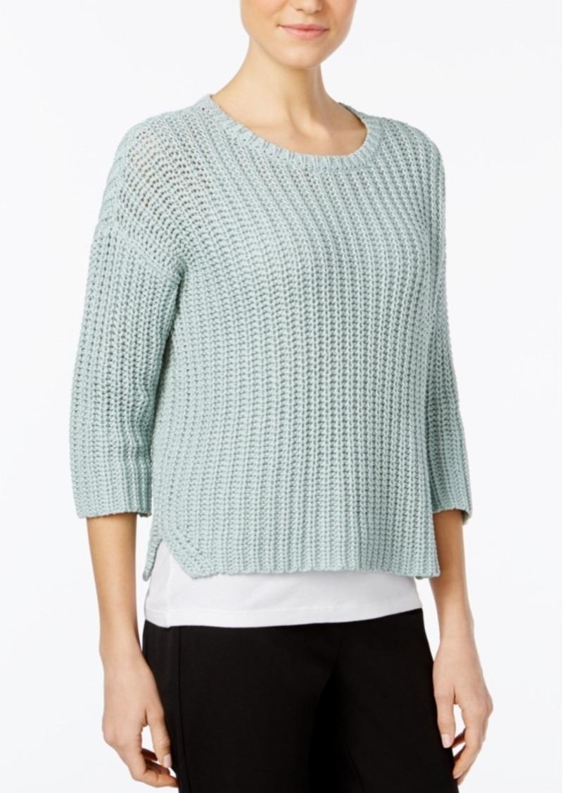 Eileen Fisher Eileen Fisher Organic Cotton Crew-Neck Sweater ...