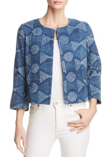 Eileen Fisher Organic Cotton Cropped Jacket