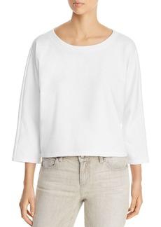 Eileen Fisher Organic Cotton Cropped Sweatshirt