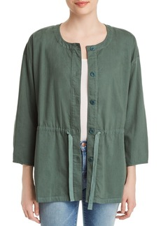 Eileen Fisher Organic Cotton Drawstring Jacket