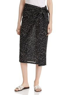 Eileen Fisher Organic Cotton Faux-Sarong Skirt