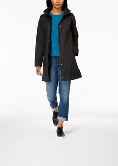 Eileen Fisher Organic Cotton Hidden-Hood A-Line Jacket
