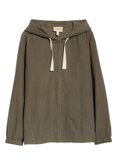 Eileen Fisher Organic Cotton Hooded Zip Jacket (Unisex) (Nordstrom Exclusive)