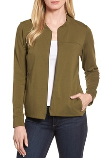 Eileen Fisher Organic Cotton Jersey Bomber Jacket