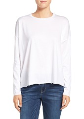 Eileen Fisher Organic Cotton Jersey Easy Crewneck Top