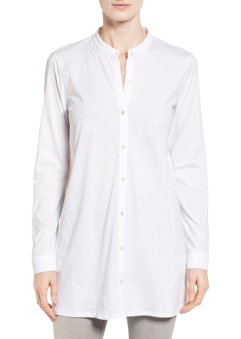 5275f228deb Eileen Fisher Organic Cotton Jersey Mandarin Collar Tunic (Regular & Petite)