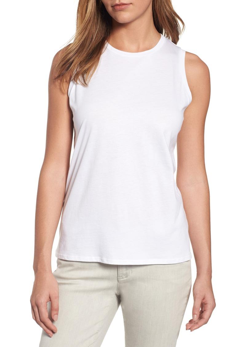 Eileen fisher eileen fisher organic cotton jersey shell for Eileen fisher organic cotton t shirt