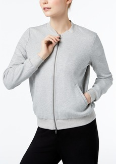 Eileen Fisher Organic Cotton Knit Bomber Jacket, Regular & Petite