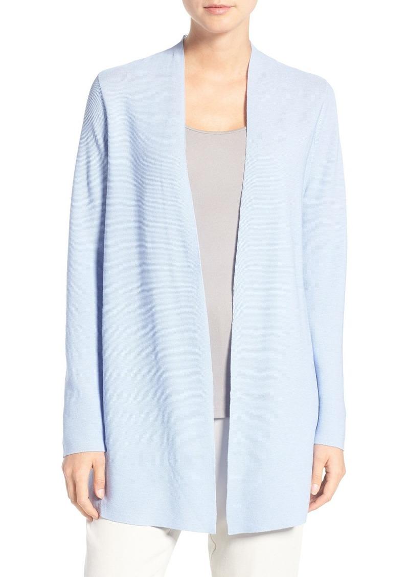 Eileen Fisher Organic Cotton Long Straight Cut Cardigan