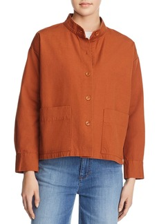 Eileen Fisher Petites Mandarin Collar Jacket