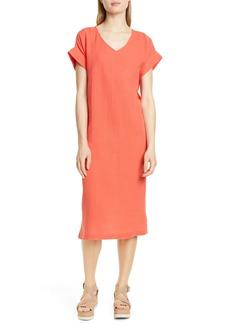 Eileen Fisher Organic Cotton Midi Dress (Regular & Petite)