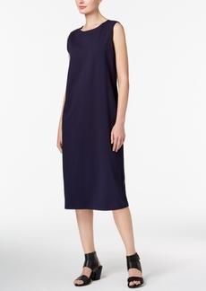 Eileen Fisher Organic Cotton Midi Shift Dress, Regular & Petite