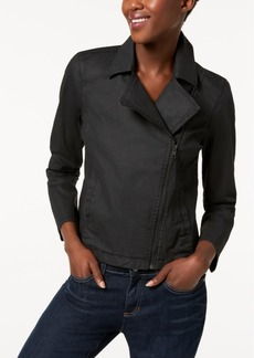 Eileen Fisher Organic Cotton Moto Jacket