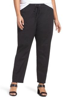 Eileen Fisher Organic Cotton Poplin Pants (Plus Size)
