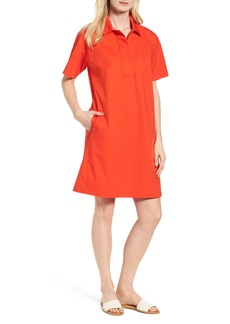 Eileen Fisher Organic Cotton Poplin Shirtdress (Regular & Petite)