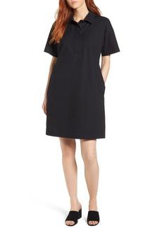 Eileen Fisher Organic Cotton Poplin Shirtdress (Regular & Petite)