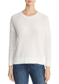 Eileen Fisher Organic Cotton Shaker-Knit Sweater