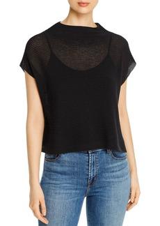 Eileen Fisher Organic Cotton Short-Sleeve Sweater