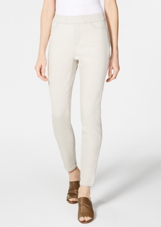 Eileen Fisher Organic Cotton Stretch Denim Pull-On Denim Leggings, Created for Macy's