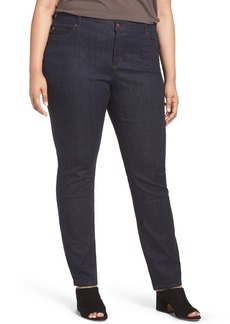 Eileen Fisher Organic Cotton Stretch Skinny Jeans (Plus Size)