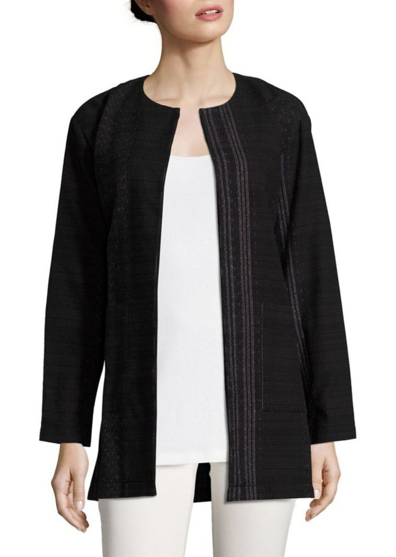Eileen Fisher Organic Cotton Striped Jacket