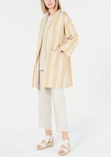 Eileen Fisher Organic Cotton Striped Kimono, Regular & Petite