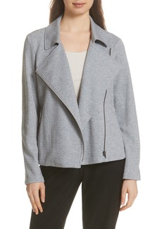 Eileen Fisher Organic Cotton Tweed Moto Jacket (Regular & Petite)