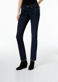 Eileen Fisher Organic Cotton Washed Indigo Frayed-Hem Ankle Jeans