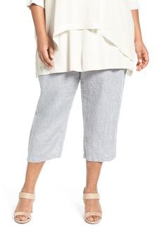 Eileen Fisher Organic Handkerchief Linen Crop Pants (Plus Size)