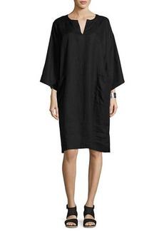 Eileen Fisher Organic Handkerchief Linen Shift Dress